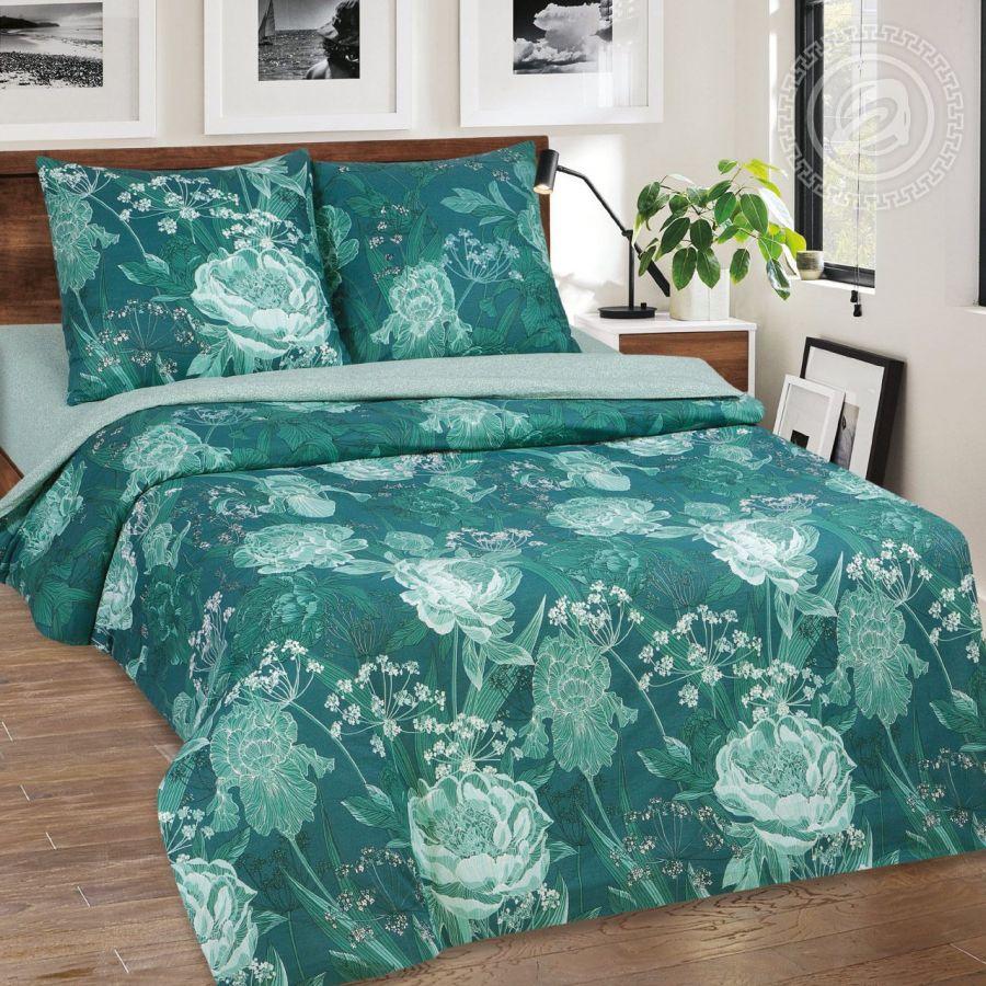 «Калипсо» (DE LUXE с простынью на резинке) постельное белье Поплин Семейный