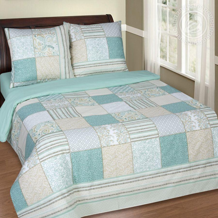 «Мелисса» (DE LUXE с простынью на резинке) постельное белье Поплин 2-х спальный
