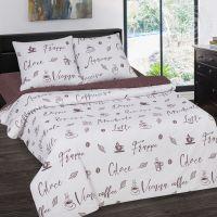 «Мокко» (DE LUXE с простынью на резинке) постельное белье Поплин Семейный