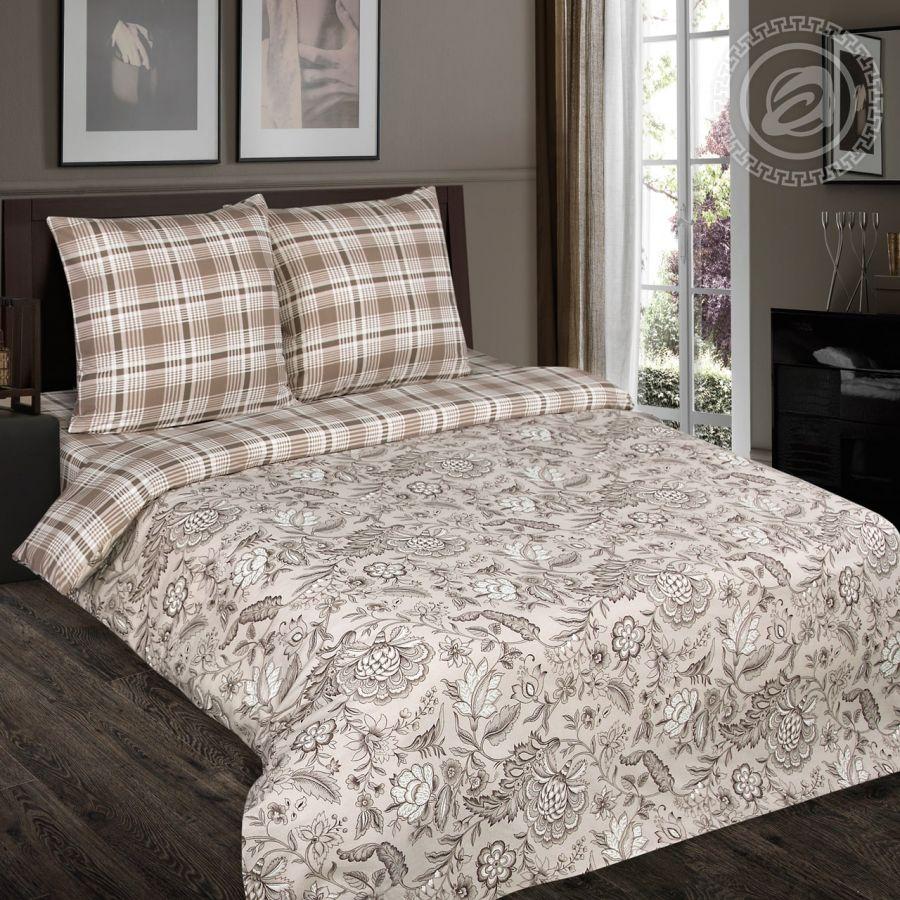 «Ода» (DE LUXE с простынью на резинке) постельное белье Поплин Евро