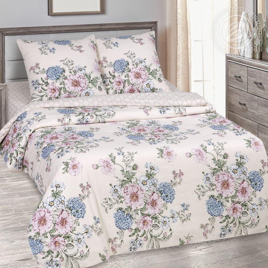 «Саломея» (DE LUXE с простынью на резинке) постельное белье Поплин 1.5 спальный