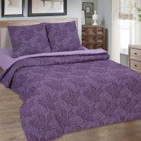 «Вирджиния (фиолетовый)» (Зима - лето) постельное белье Поплин Евро