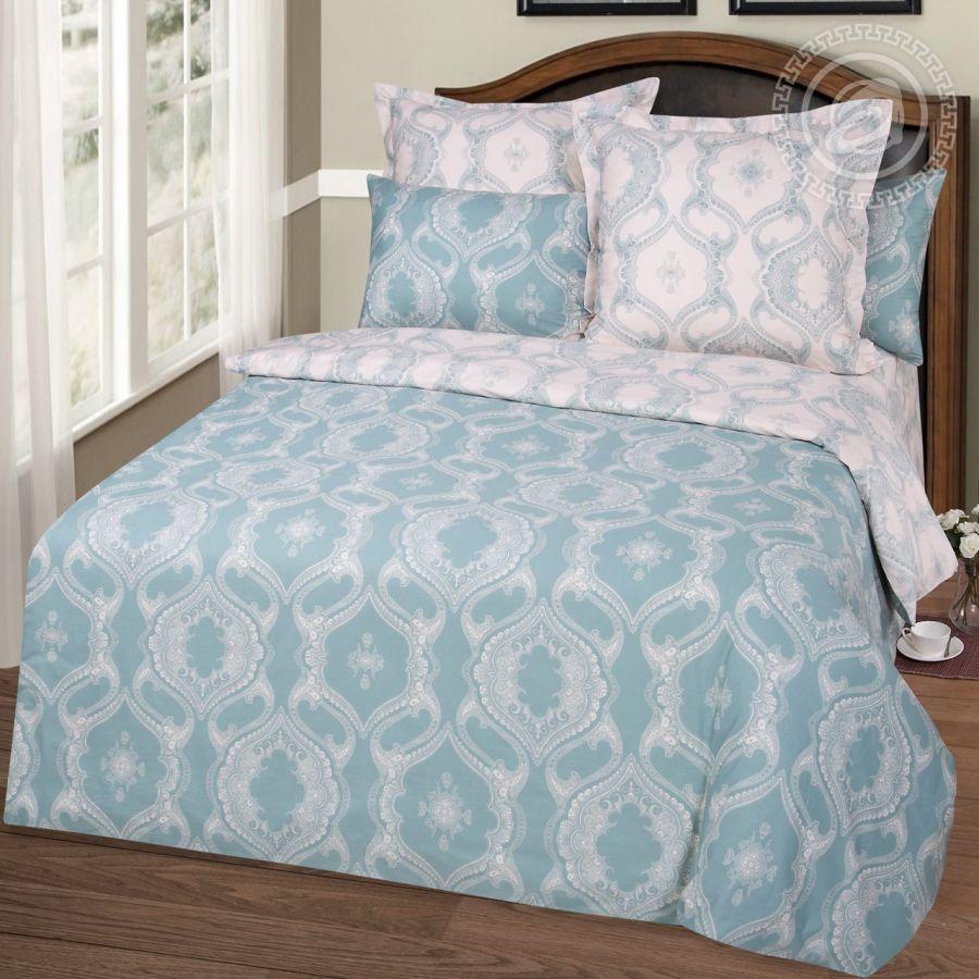 «Аквамарин» (Premium) постельное белье Сатин 1.5 спальный