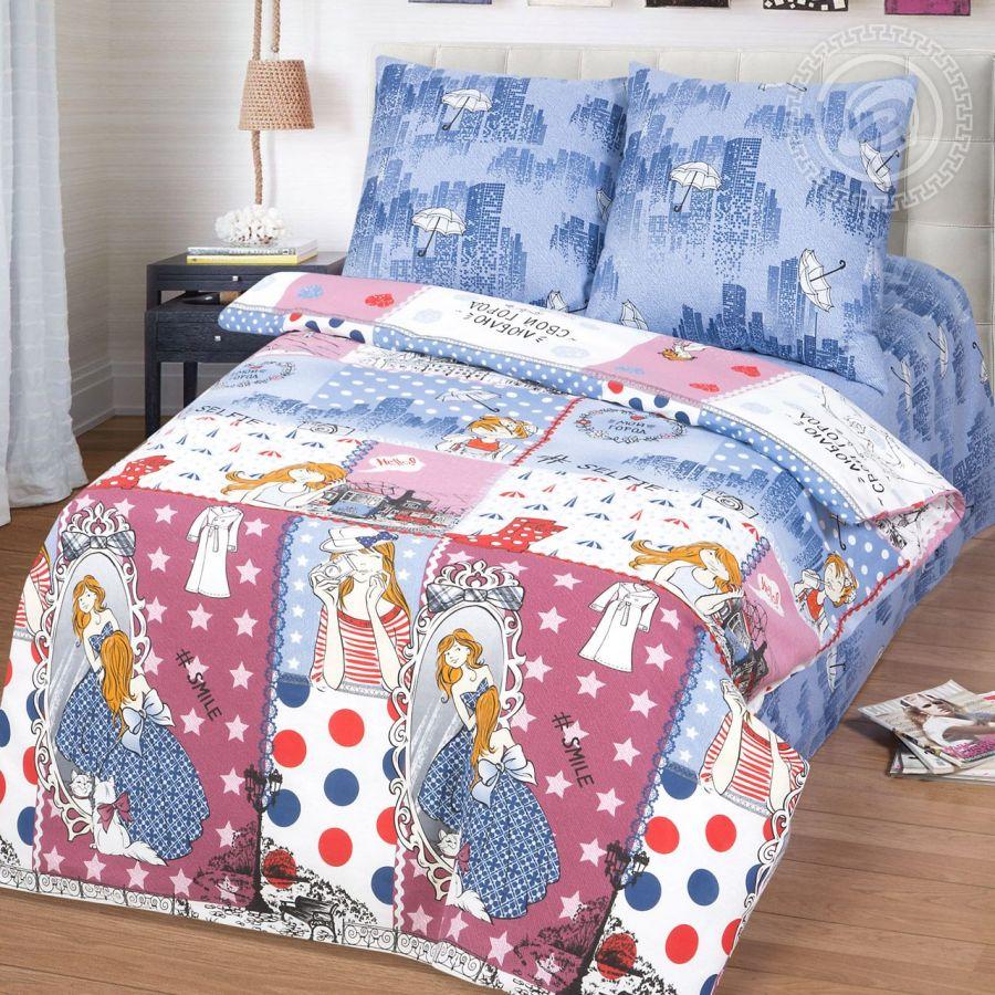 «Селфи-город» (Премиум) постельное белье Бязь