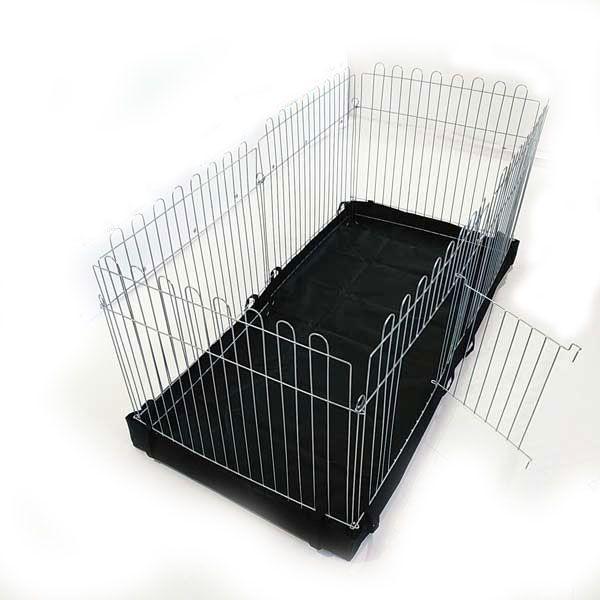 Вольер с дном для собак щенков кошек  6х64х-73 прямоугольный