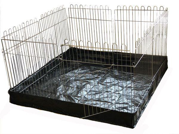 Вольер с Дном для собак кошек щенков  8х64х73 квадрат полипропиленовое