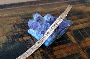 Позолоченный браслет с эффектом алмазной гравировки, 7 мм (арт. 250333)