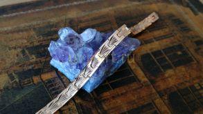 Позолоченный браслет с эффектом алмазной гравировки, 7 мм (арт. 250334)