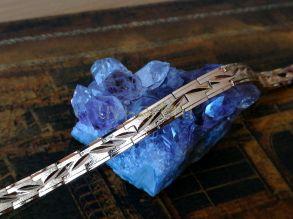 Позолоченный браслет с эффектом алмазной гравировки, 7 мм (арт. 250335)