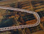 Позолоченная цепочка, двойной ромб с эффектом алмазной грани, 7 мм (арт. 250336)