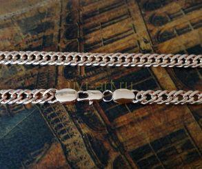Позолоченная цепочка, двойной ромб с эффектом алмазной грани, 6 мм (арт. 2501801)