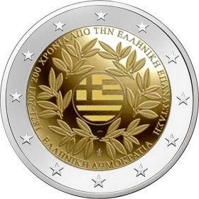 200 лет греческой революции и независимости Греции 2 евро Греция 2021