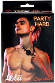 Кляп Lola Games Party Hard Love Addict черный