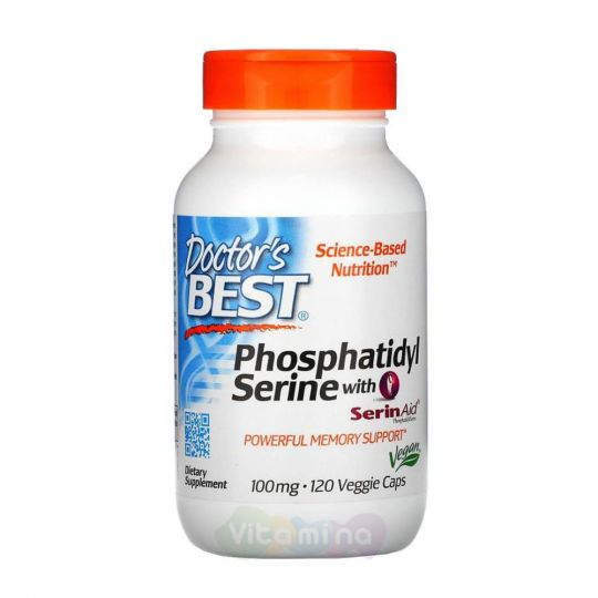 Doctor's Best Фосфатидилсерин с SerinAid, 120 капсул