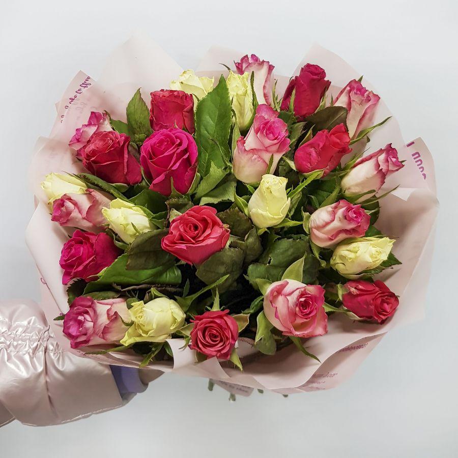 Розы микс 40см (Кения)