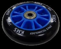 Колесо КМС 100 мм с литым пластиковым диском синее
