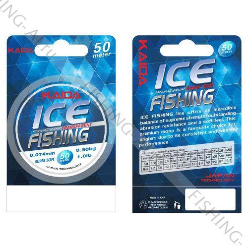 Леска Kaida ICE Fishing 50 м 0.148 мм