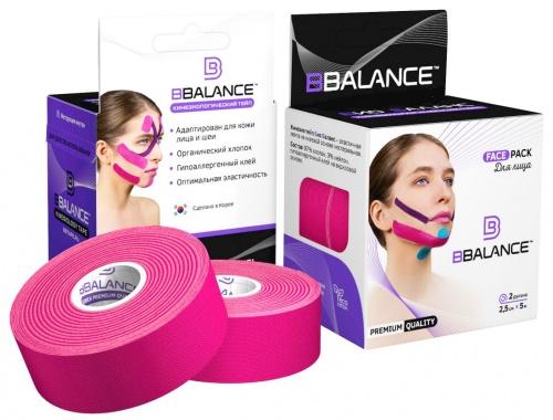 Кинезио тейп BB Tape 5см*5м (Face Pack розовый)