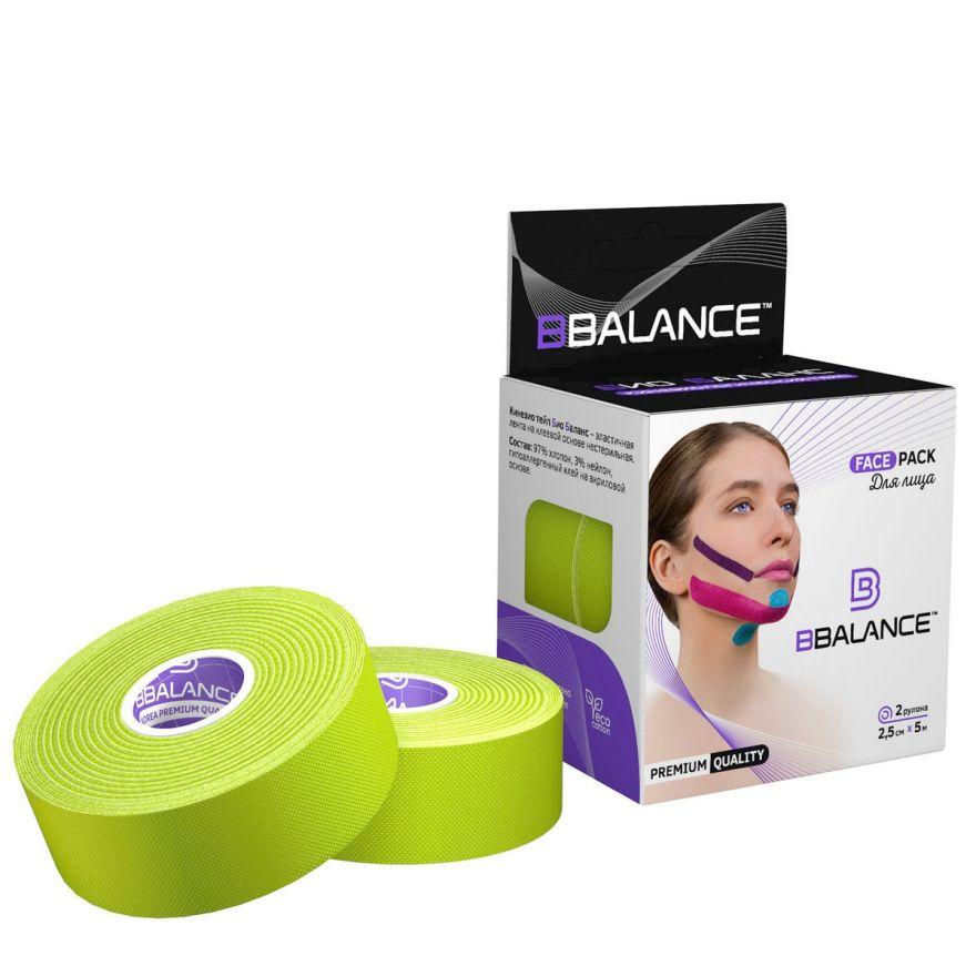 Кинезио тейп BB Tape 5см*5м (Face Pack лайм)