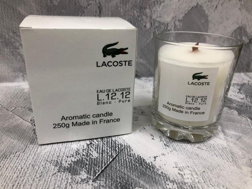 Свеча ароматическая парфюмерная  Lacoste Eau De Lacoste L.12.12 Blanc-Pure
