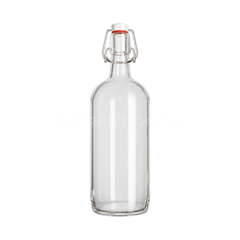Бутылка бугельная Бомба, 1 л. (прозрачная)