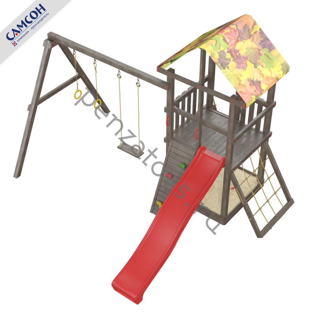 Игровая детская площадка Сибирика Lite с цветной крышей