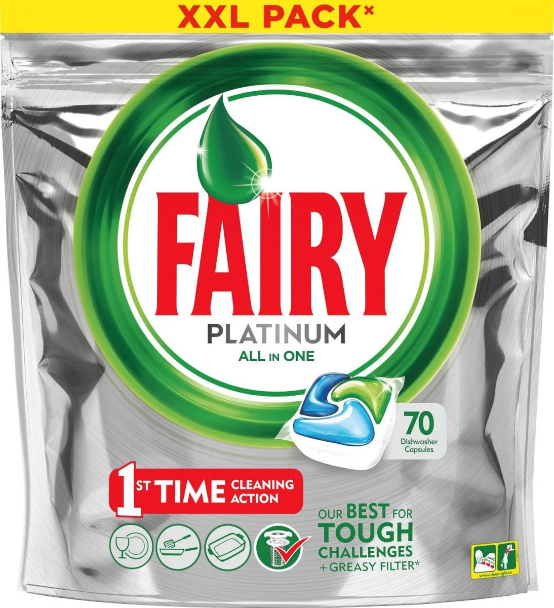 Таблетки для п/м Fairy Platinum All-In-One 70шт