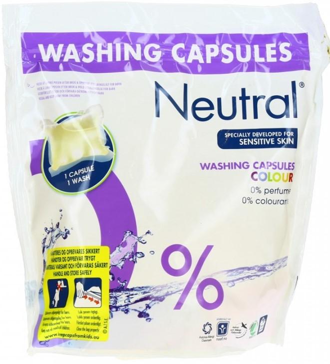 Капсулы для стирки Neutral (цветное белье) 22шт