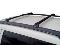 Багажник на крышу Skoda Yeti, аэродинамические дуги на рейлинги (черный цвет)
