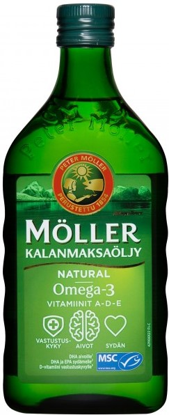 Рыбий жир Moller (без добавок) 500мл