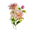 фото Брошь металл  со стразами и эмалью  Цветок Астра (LAS.Астра.3)