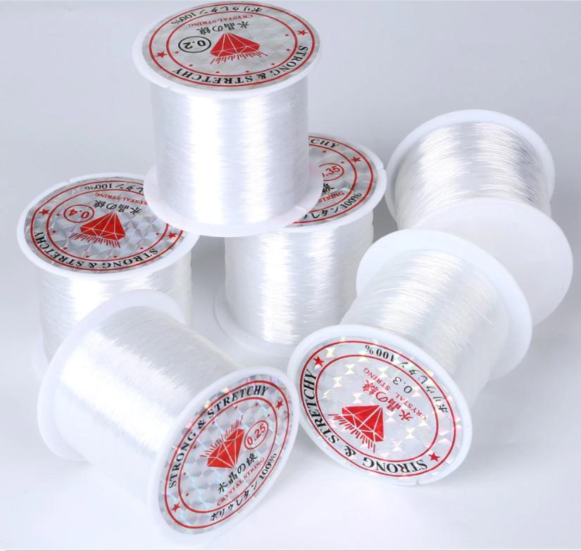 Леска для бисера цвет белый прозрачный (Crystal-03)