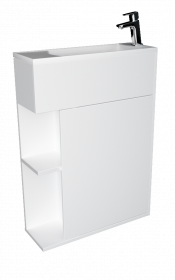 Тумба с раковиной 1Marka Stretto 60П 1д. Белый глянец