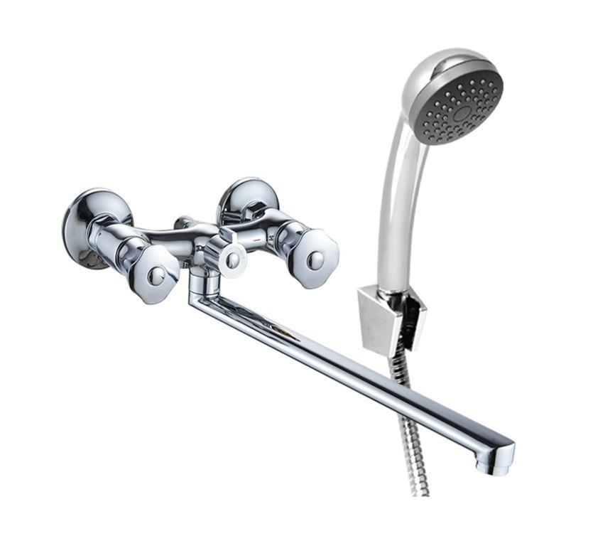 Смеситель для ванны с длинным изливом и аксессуарами Коннер AUR2600