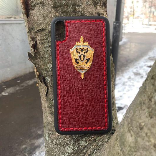 "Кожаный чехол-накладка ""Прокуратура РФ"" на iPhone"
