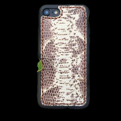 """Кожаный чехол-накладка """"Белый питон"""" на iPhone"""
