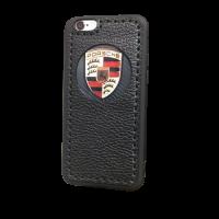 """Кожаный чехол-накладка """"Porsche"""" на iPhone"""