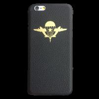 """Кожаный чехол-накладка с символикой """"ВДВ"""" на телефон"""
