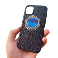 """Кожаный чехол-накладка """"Войска специального назначения"""" на телефон"""