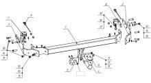 Фаркоп (тсу) Bosal Oris, крюк на болтах, тяга 1.5т