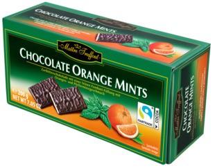 Шоколадные пластины Maitre Truffout (апельсин) 200г