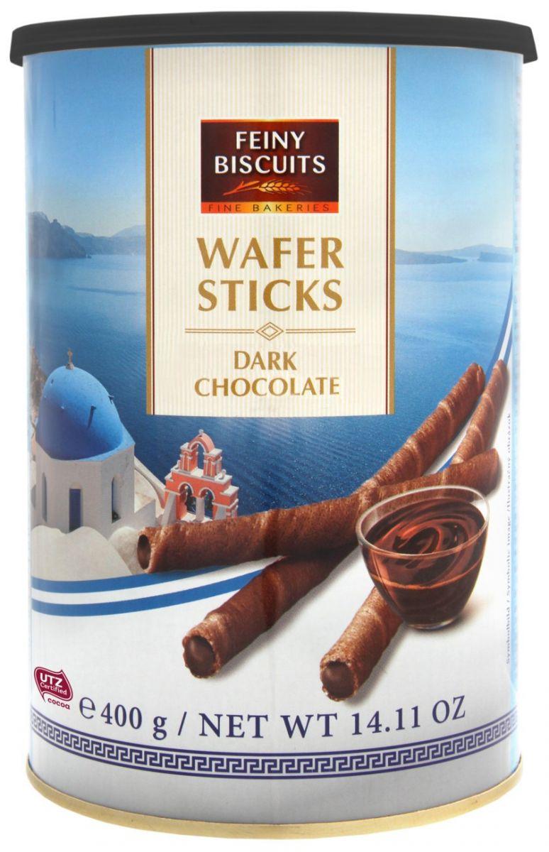 Вафельные трубочки Feiny Biscuits (темный шоколад) 400г
