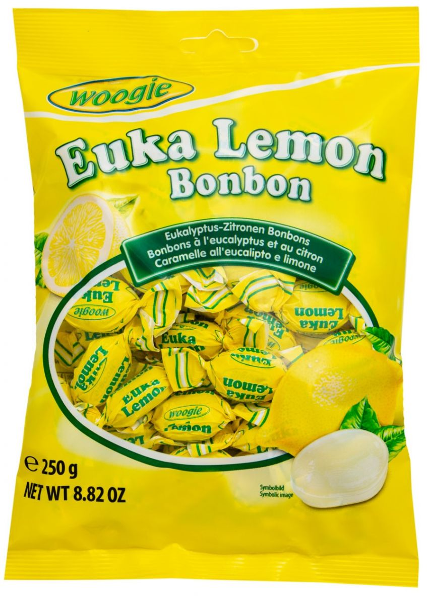 Леденцы Woogie (эвкалипт, лимон) 250г