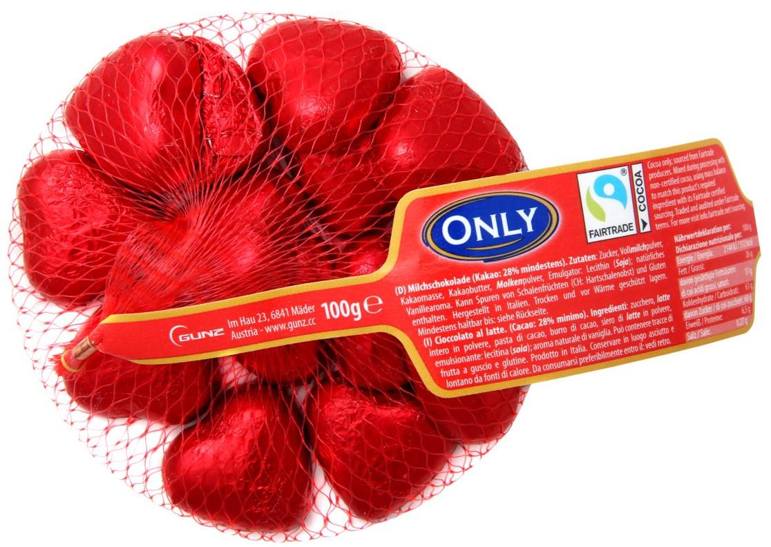 Шоколад Only (сердца) 100г