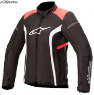 Куртка женская Alpinestars Stella T-Kira V2 Waterproof, Черно-красная