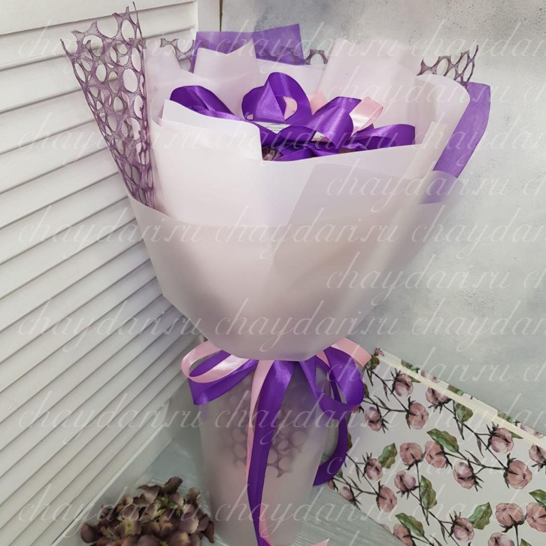 Букет из чая и сладостей «Цветок лотоса»