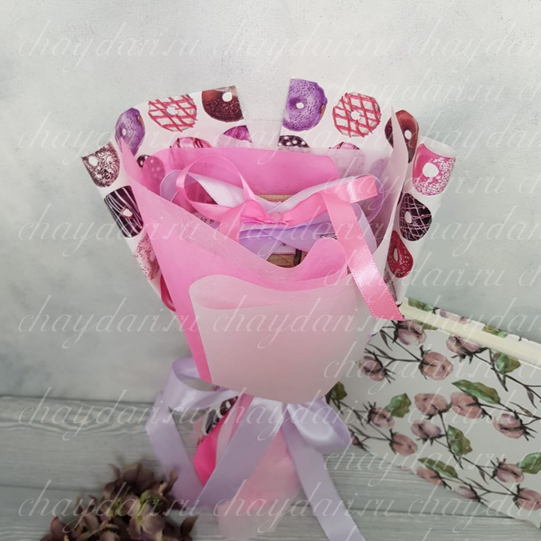 Букет из чая  «Розовые мечты»