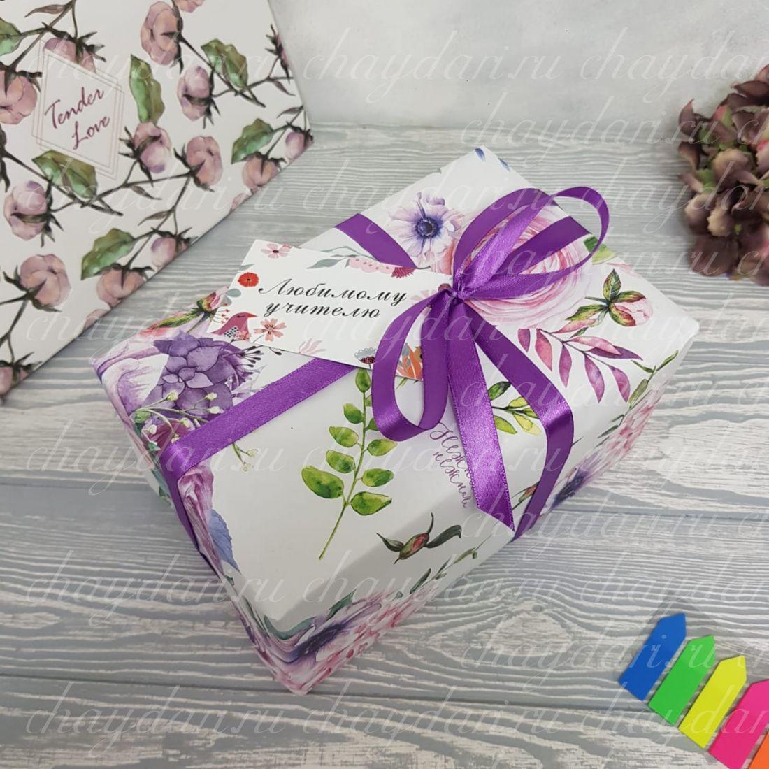 Коробка из чая и сладостей «Подарок для учителя»