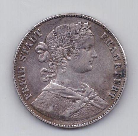 1 талер 1860 года Франкфурт Германия