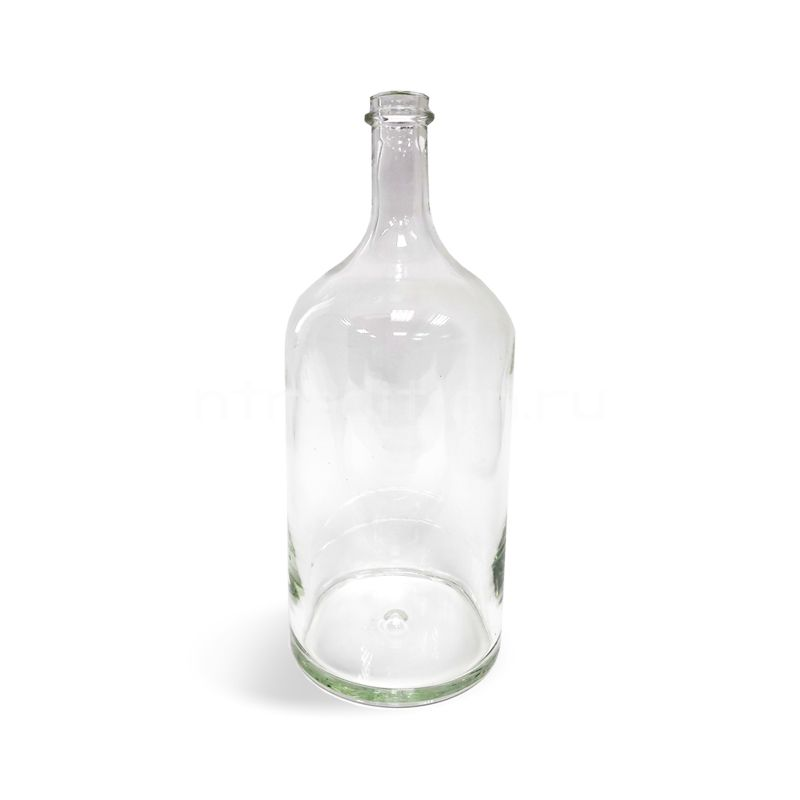 Бутыль прозрачная, 2 литра (ручная работа)